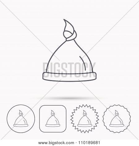 Baby hat icon. Newborn cap sign.
