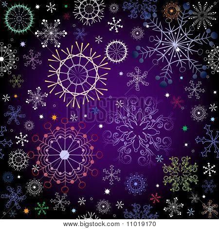 Black And Violet Effortless Christmas Pattern