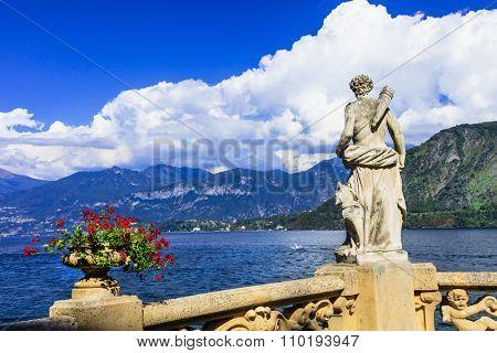 pictorial lago di Como, villa Balbinello, Italy
