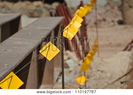 Reflector barrier or reflective barricade