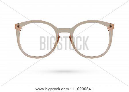 Fashion Glasses Style Plastic-framed Isolated On White Background.