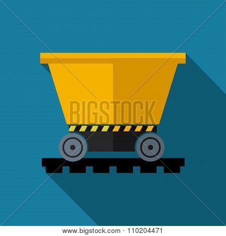 Vetor color flat trolley icon. Eps10