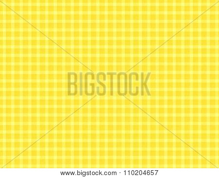 Yellow plaid pattern textured background.