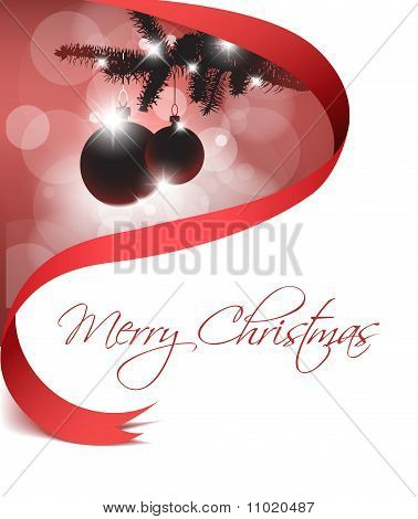 Christmas Card With Some Decoration