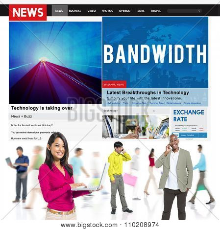 Bandwidth Internet Online Connection Broadbad Technology Concept
