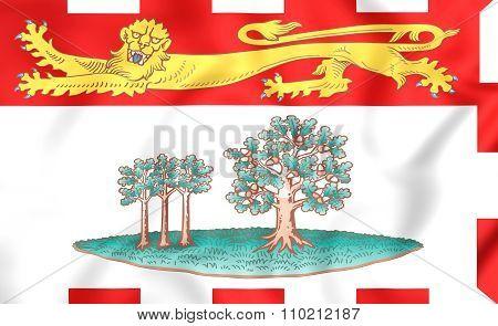 Flag Of Prince Edward Island, Canada.