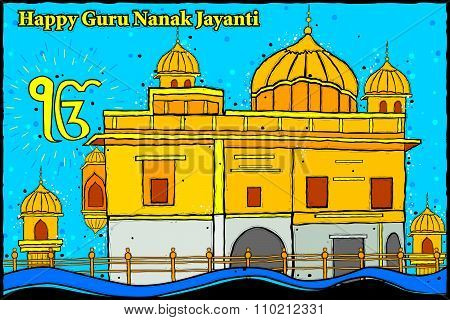 Happy Guru Nanak Jayanti background