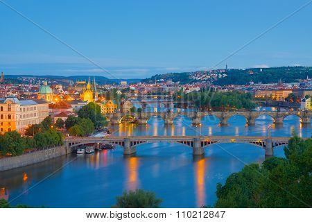 View Of Night Prague