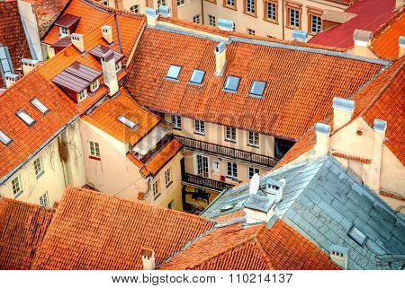 View Over Rooftops Of Vilnius, Capital Of Lithuania