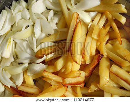 Potato Chips And Cutting Onions