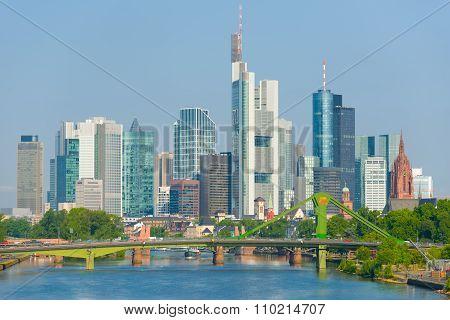 Frankfurt At A Summer Day