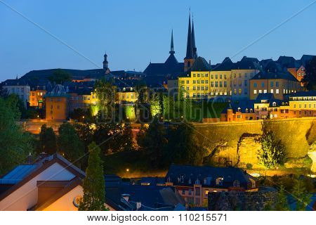 Luxembourg In A Summer Night