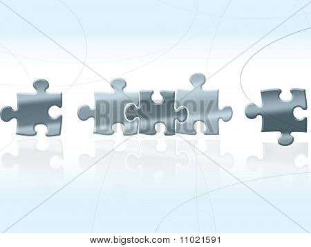 Silver Blue Puzzles background