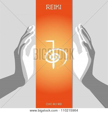 The first Reiki symbol CHO KU REI.