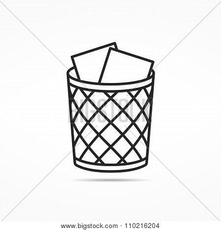 Trash Can Line Icon