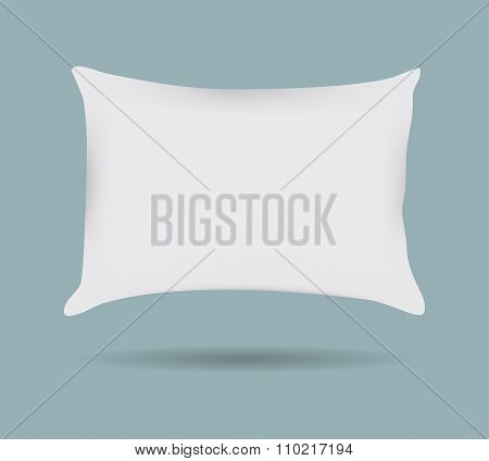 Pillow Pattern Decorative Pillowcase. Isolated On White. Interior Design Element. Vector