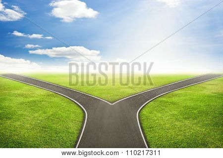 Businessman concept road to the correct way.