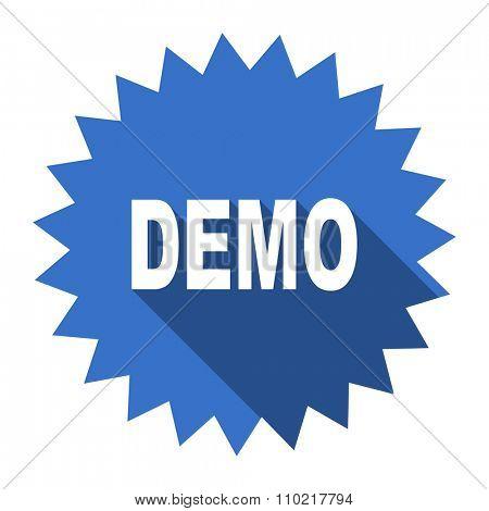 demo blue flat icon