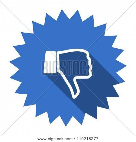 dislike blue flat icon