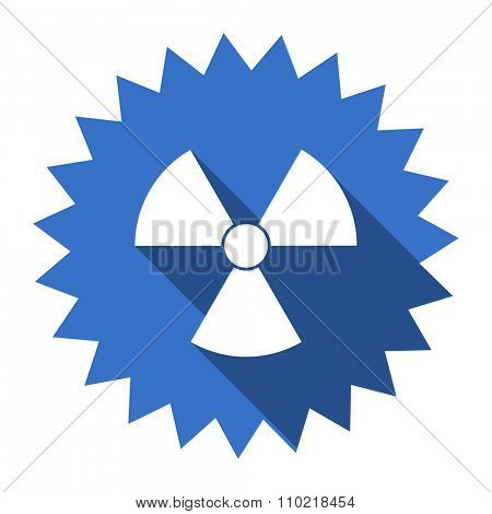 radiation blue flat icon
