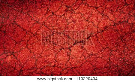 Red Old cracked grunge background texture