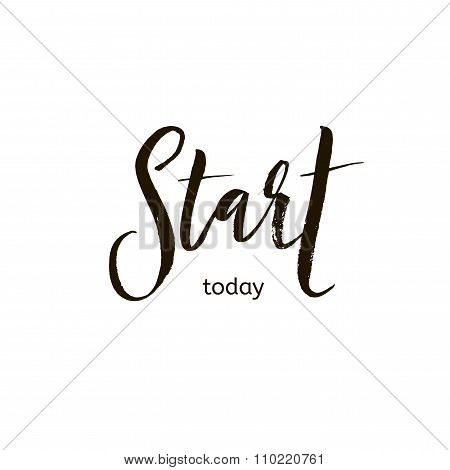 Start Today Card.