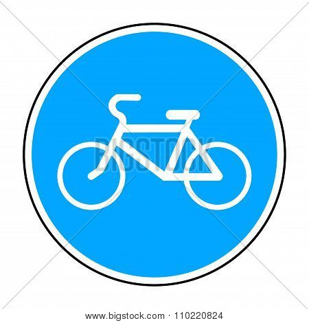 Bicycle Round Sign