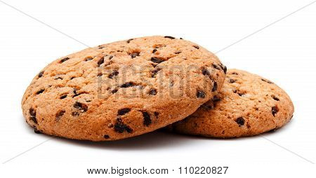 Chocolate Chip Cookie Isolated