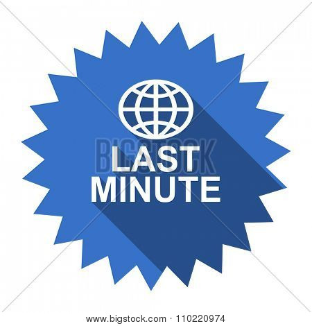 last minute blue flat icon