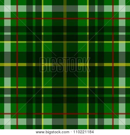 Vector seamless scottish tartan pattern in green black and yellow