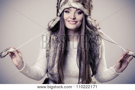 Winter Time Girl Fashion.