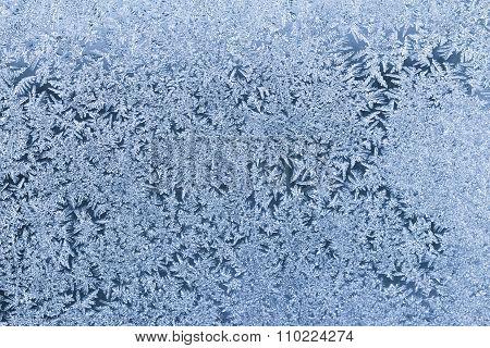 Frosty blue textured winter background