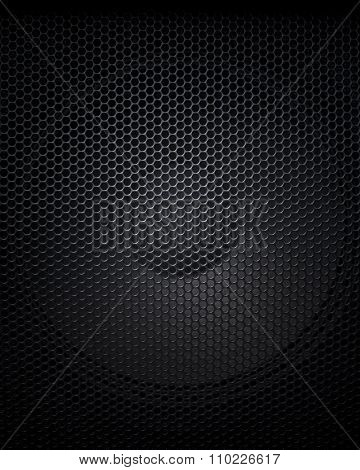 Abstract Black Music Speaker Background