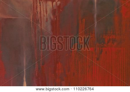 Grunge Textured Red Painted Background