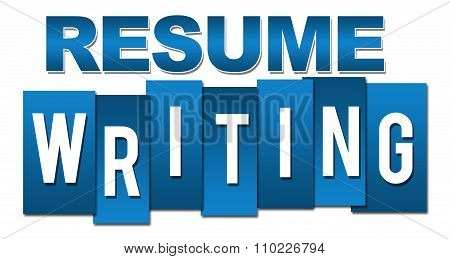 Resume Writing Professional Blue Stripes
