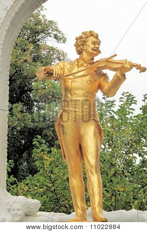 Johann Strauss; Viennese City Park; Vienna, Austria