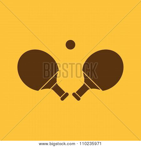 The Table tennis icon. Ping pong symbol. Flat