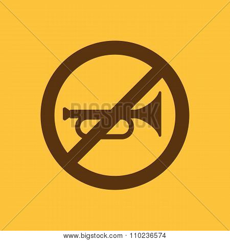 The keep quiet icon. No sound symbol. Flat