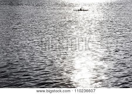 Canoe in sunlight