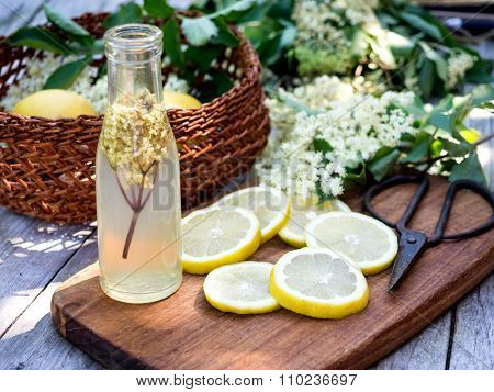 Elderflower Juice And All Ingredients
