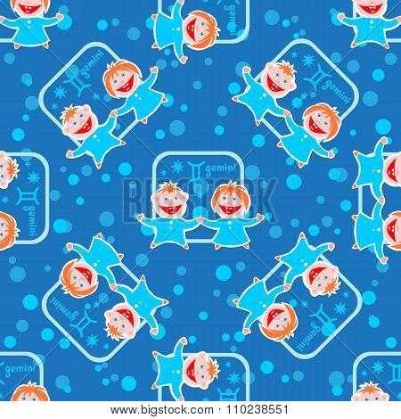 gemini seamless pattern