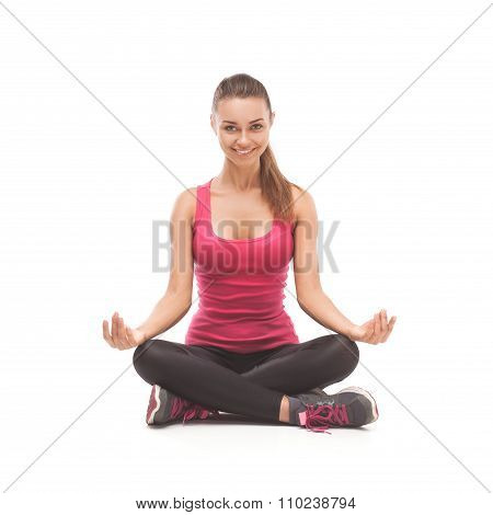Fitness woman doing sport exercise