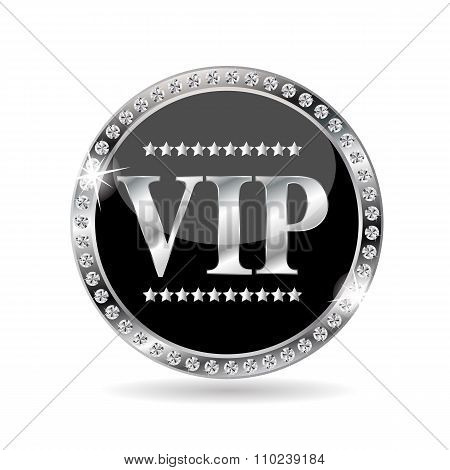 VIP Members Label Vector Illustration