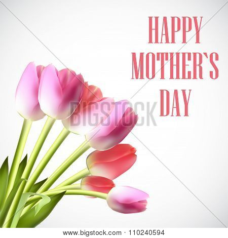 Happy Mother Day Poster Card Vector Illustration