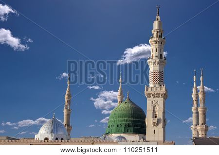 Dome And Minarets Of Masjid Nabavi