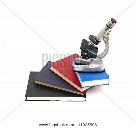 Microscope, books