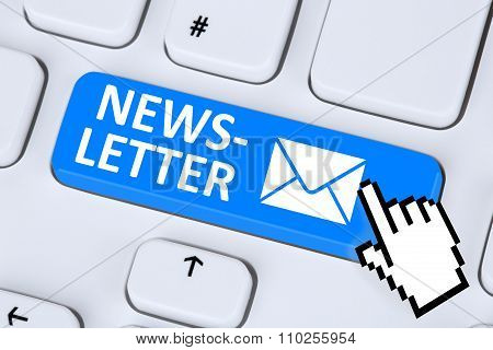 Newsletter Sending E-mail Email Mail On Internet For Business Marketing Campaign