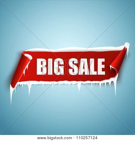 Big sale vector banner.
