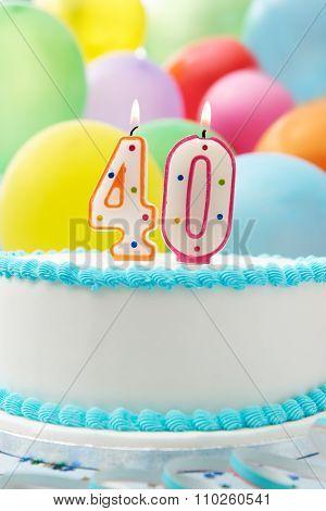 Cake Celebrating 40Th Birthday