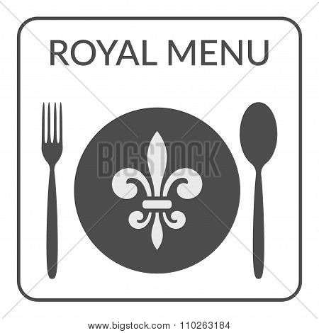 Royal Menu Sign